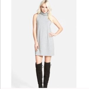 Leith Gray Sleeveless Turtleneck Mini Dress